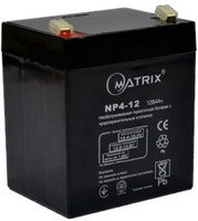 Аккумуляторная батарея Matrix 12V 4Ah (NP4-12)