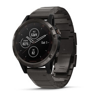 Часы Garmin Fenix 5 Plus Sapphire, Carbon Gray DLC Titanium with DLC Titanium Band