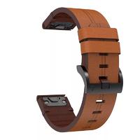 Кожаный ремешок для часов Garmin Fenix 5/6, Forerunner 935/945 22 Watch Bands Brown Leather