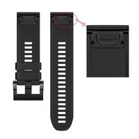 Ремешок на запястье для Garmin Fenix 5x/6x Watch Bands Black Silicone