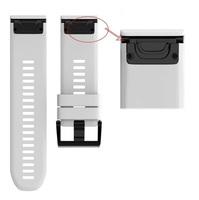 Ремешок на запястье для Garmin Fenix 5x/6x Watch Bands White Silicone