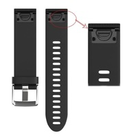 Ремешок на запястье для Garmin Fenix 5s/6s Watch Bands Black Silicone