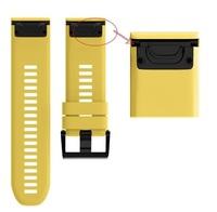 Ремешок на запястье для Garmin Fenix 5x Watch Bands Yellow Silicone