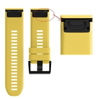 Ремешок на запястье для Garmin Fenix 5x/6x Watch Bands Yellow Silicone