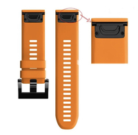 Ремешок на запястье для Garmin Garmin Fenix 5/6, MARQ, Quatix 5 и Forerunner 935/945 Bands Orange Silicone