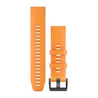 Ремешок на запястье для Garmin QuickFit™ 22 Watch Bands Solar Flare Orange Silicone