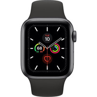 Смарт-часы Apple Watch Series 5 LTE 40mm Space Gray Aluminum w. Black b.- Space Gray Aluminum (MWWQ2)