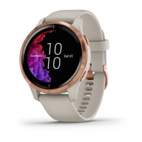 Спортивные часы Garmin Venu Rose Gold Stainless Steel Bezel with Light Sand Case and Silicone Band