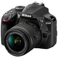 Зеркальный фотоаппарат Nikon D3400 kit (18-55mm VR) Black