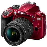 Зеркальный фотоаппарат Nikon D3400 kit (18-55mm VR) Red